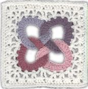 Friendship Ring Square, granny square pattern by Terri Kroupa on Around the Crochet Table