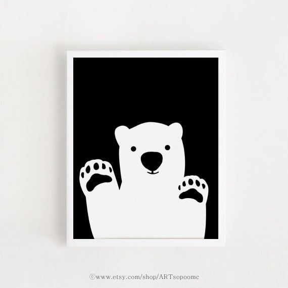Bear Printable nursery art INSTANT DOWNLOAD Cute by ARTsopoomc