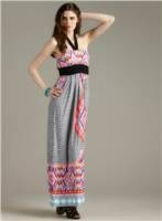 Printed Maxi Dress. Great piece to lounge around in or go to brunch in.