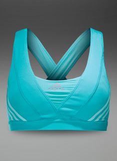 Womens Clothing - Womens adidas Supernova Racer Bra - Vivid Mint/Frost Mint