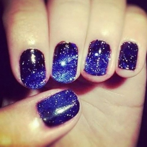 Nail Art Night: Night Theme Nail Art