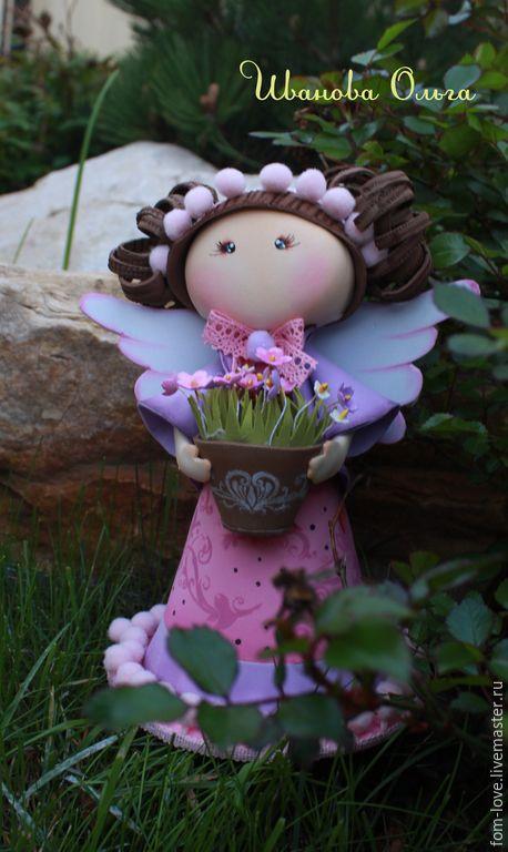 Купить или заказать Цветочный  ангел. в интернет-магазине на Ярмарке Мастеров. Цветочный ангел это интерьерная кукла с любовью и нежностью изготовлена мастером из волшебного материала фоам эва. Нежное создание, несущее тепло и краски летнего дня. Она украсит Ваш дом или станет хорошим подаркам для Ваших друзей. Кукла изготовлена в двух вариантах блондинка Ле и брюнетка То. При желании вы можете приобрести их обеих, и тогда в Вашем доме навсегда поселится ЛеТо.