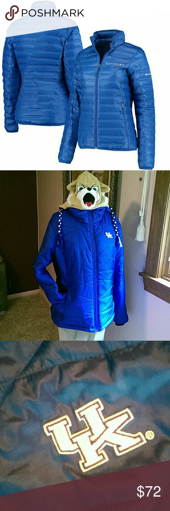 UK Wildcat Columbia jacket XL Like new condition. Get your Wildcat on! University of Kentucky. Mums. Past life. Another past love. Moving on! Hugs Columbia Jackets & Coats Puffers