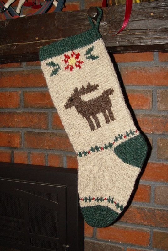 Christmas Stocking Knitting Pattern Easy : Best images about knit christmas stockings on pinterest
