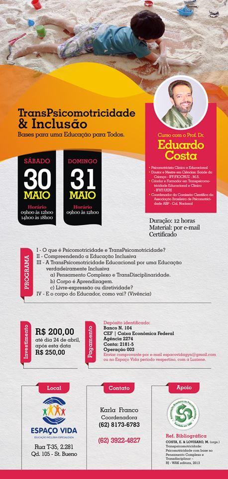 Curso em Goiania dias 30 e 31 de maio de 2015