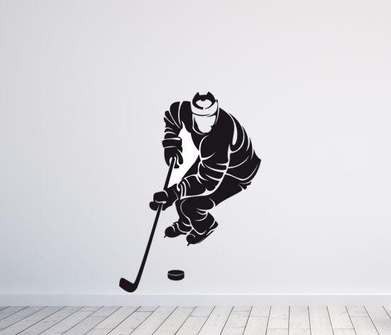 VÄGGDEKOR Hockey spelare 1