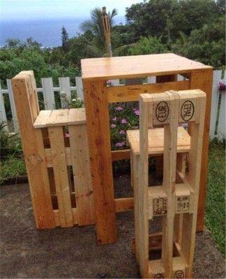 Schritt für Schritt Anleitung , wie man Stühle mit Paletten machen