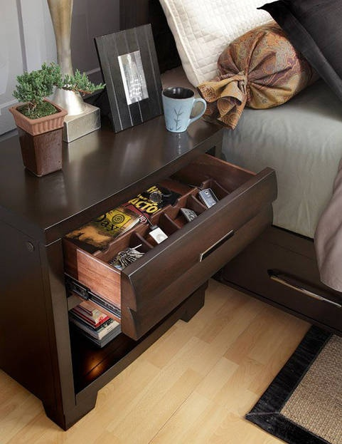 Nightstand With Charging Station Built In Have To Do This To Declutter The Top Just Scared I