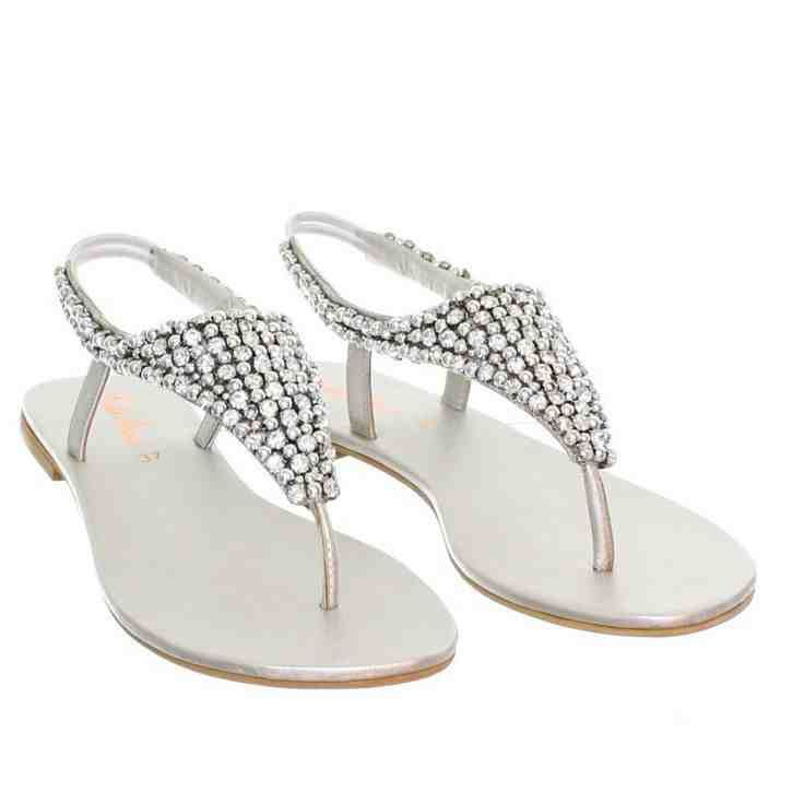 Attractive Silver Dress Sandals Wedding