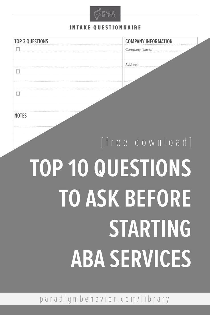17 best ideas about educational assistant teacher top 10 questions to ask an aba provider before starting services this