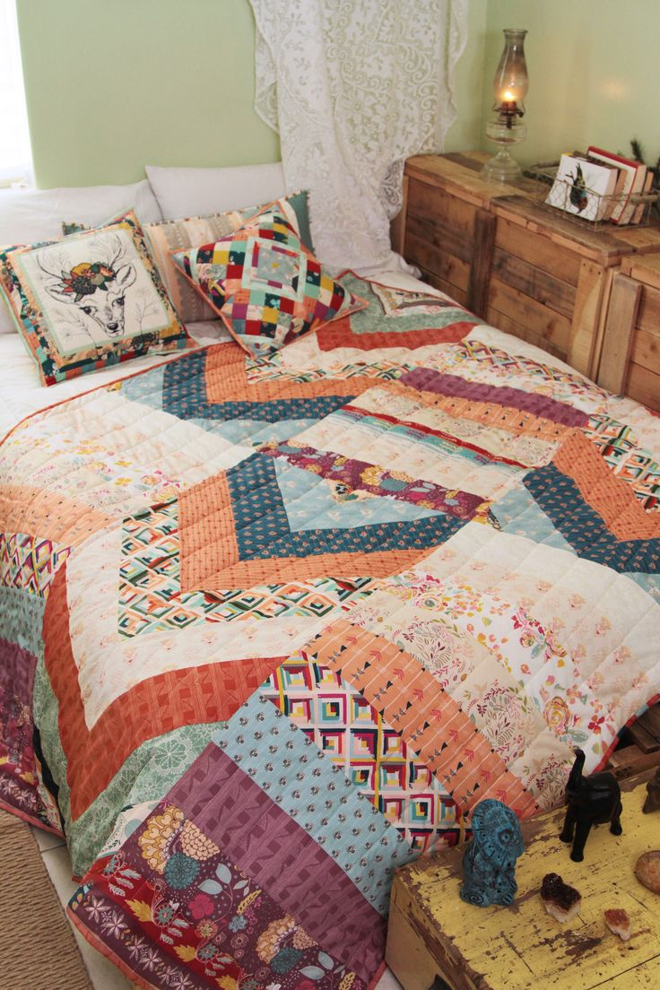 Patchwork bed sheets patterns - Create Your Very Own Instinct Paths Quilt Using The Free Quilt Pattern This Quilt Is