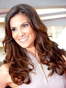 Daniela Ruah, whose different-colored eyes fascinate me.