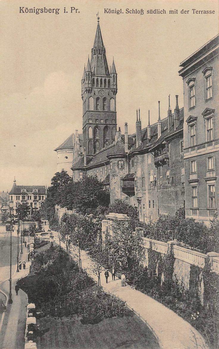 Königsberg, Ostpreussen Königl. Schloß südlich mit der Terrasse