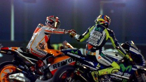 motogp.com · March 23rd, 2014 / Marc Marquez overcomes Rossi to take Qatar win http://www.motogp.com/en/news/2014/Qatar+MotoGP+Marquez+Race