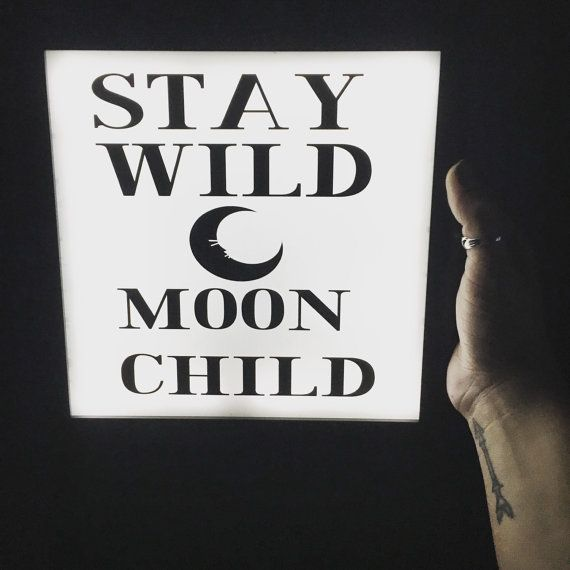 custom neon light sign. Neon sign, night light, stay wild moon child, light up sign, neon home decor, gallery wall, welcome sign