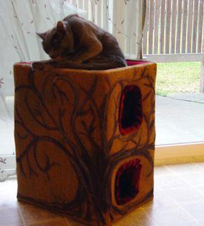 diy milk crate cat condo