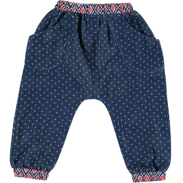 Super practical harem trousers - in soft cotton denim - for boys - from Tootsa MacGinty. For easy to wear, easy to play and we love the detail on these. The fit
