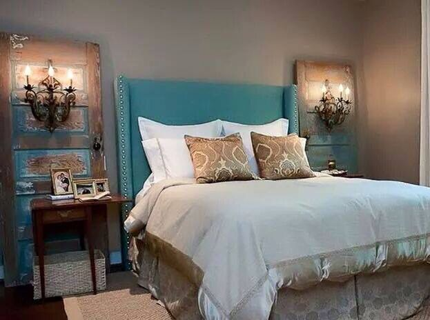 I actually know the person who created this awesome bedroom! She's my niece Sherrie Mullins-Miller. I encouraged her to post it herself because she did such an incredible job!
