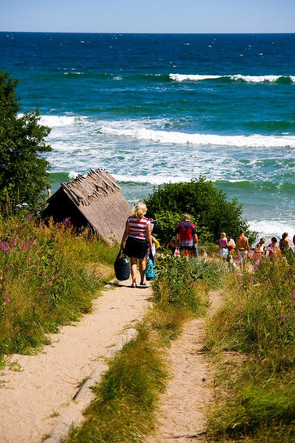 Photo taken by one of my brothers, th walk down to the beach #knäbäckshusen #österlen #sweden