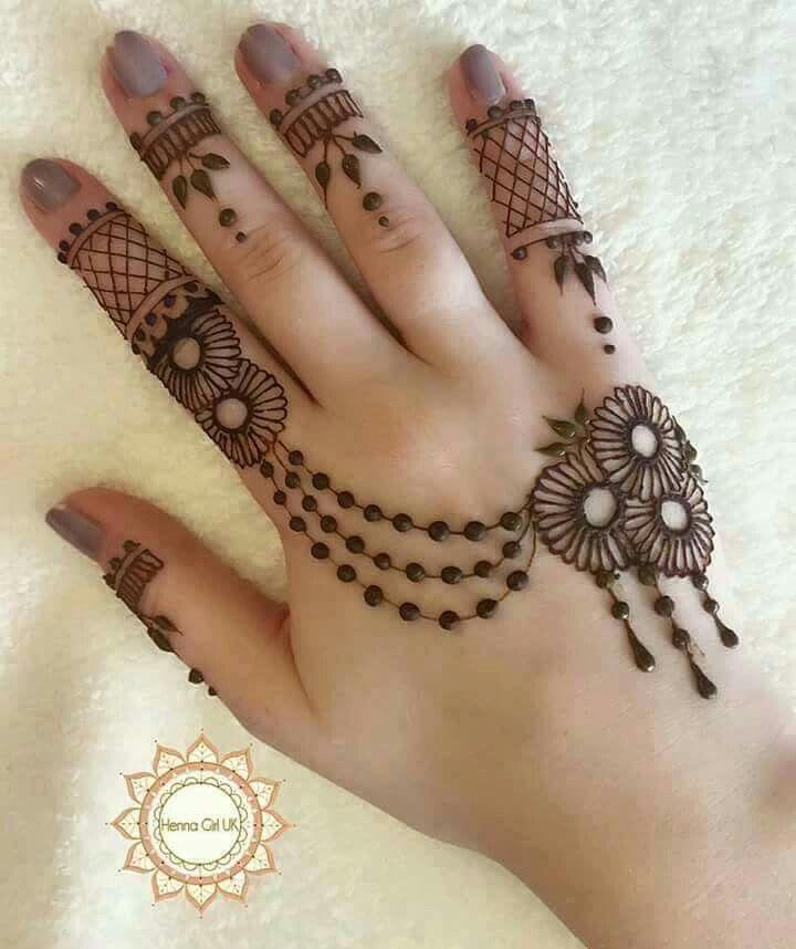 Easy and beautiful mehandi design