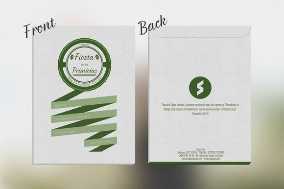 Check out #Envelope for #Church by xoltic on Creative Market. #Design