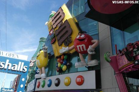 M&M's World auf dem Las Vegas Strip. Hier gibt es Unmengen an M&M Sorten.