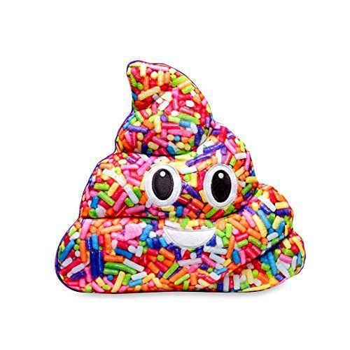 Emojicon Vanilla Scented Sprinkle Poop Pillow