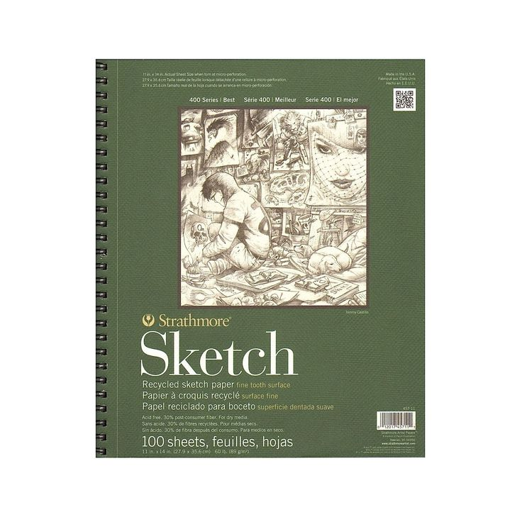 Jude- 5x7 or 8x10 size  Strathmore Series 400 Premium Recycled Sketch Pads