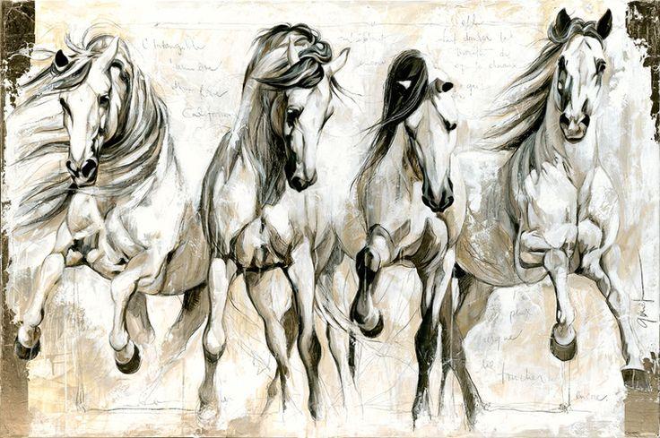 Equestrian  Horse Painting  Artist - Elise Genest Piece - California Dream