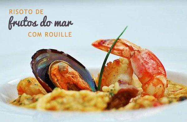 Receita: Arroz de Festa Rendimento: 4 porções Ingredientes: - 100 g de lulas em anéis - 200 g de camarões grandes limpos - 100 g de mariscos - 100 g de von