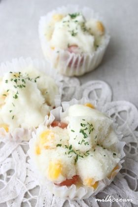 「簡単♪お食事蒸しパン」milkcrown | お菓子・パンのレシピや作り方【corecle*コレクル】