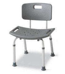 """Bath Bench RETAIL PACK 2/CS by Medline. $65.00. Increased patient comfort comes from the generous, high-density polyethylene seat and back (20""""W x 12""""D) and angled legs that distribute weight over a larger area.. Seat height adjusts from 14.5 - 19.5"""" (37 - 49.5 cm).. Suction-cup tips on all four legs provide even more stability and safety.. Model No.-MDS89745A. This Listing Is For Aluminum Benches Bath Assembled With Back Case of 1 Each.. Bath Benches: Increased patient ..."""