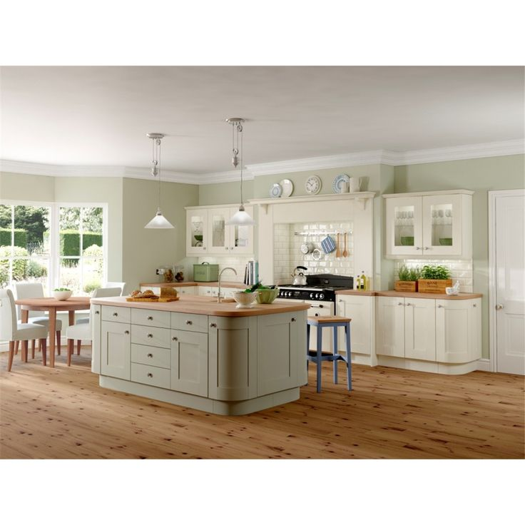 Rowat & Grays biggest selling shaker range is Rockfort which is shown in this picture in Ivory and sage