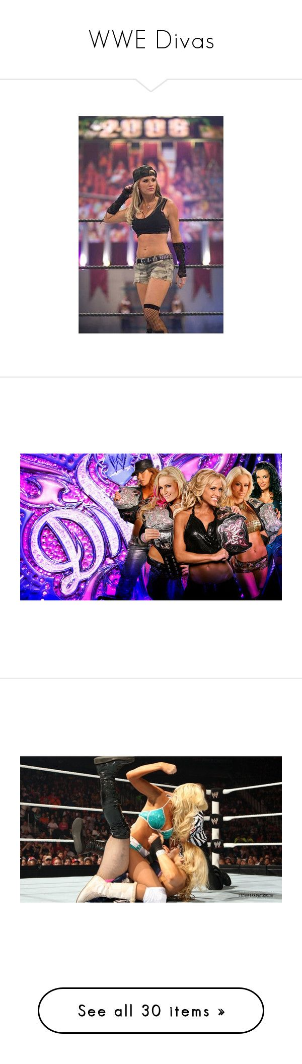 """WWE Divas"" by angelina-473 ❤ liked on Polyvore featuring wwe, backgrounds, catch, photos, pictures, home, home decor, ashley massaro, wwe divas and people"