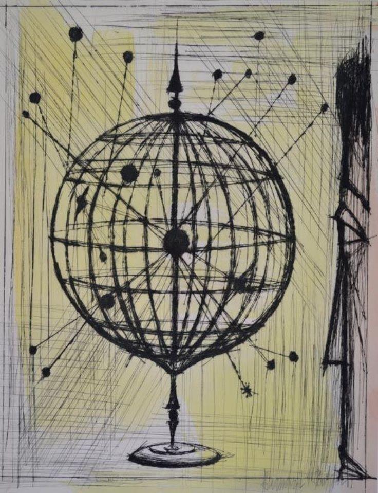"""BUFFET Bernard LE REGARD Gravure HC 41x31 cm Gravure signée au crayon rehaussée à l'aquarelle. Extrait du portfolio """"Voyages fantastiques""""  Diamonds Auction - 31/01/2016"""