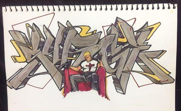 Surge graffiti sketch