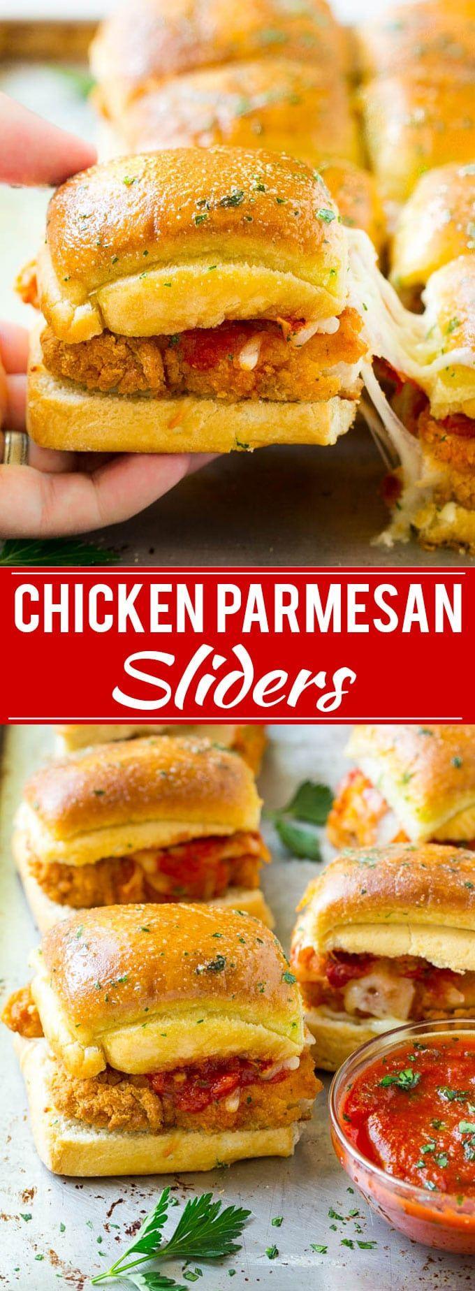 Chicken Parmesan Sliders   Chicken Parmesan Sandwich Recipe   Slider Sandwich Recipe
