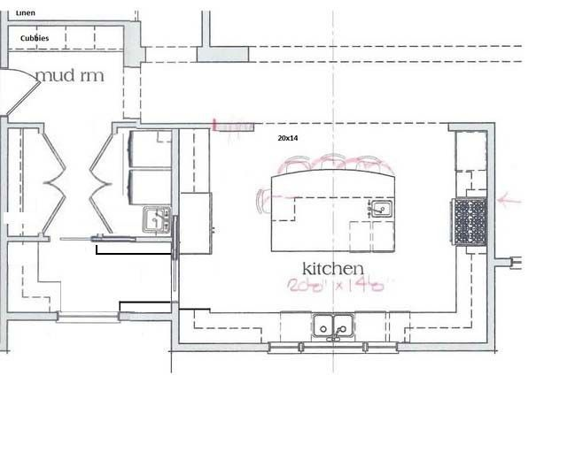 U shaped kitchen floor plans with island http acctchem for Kitchen plans with island and pantry