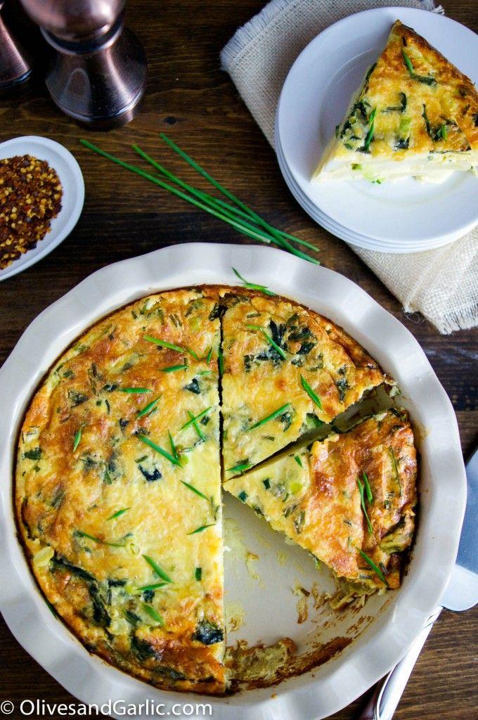 Crustless Cheesy Potato & Spinach Quiche | Recipe | Potato pie, Cheese and Mothers