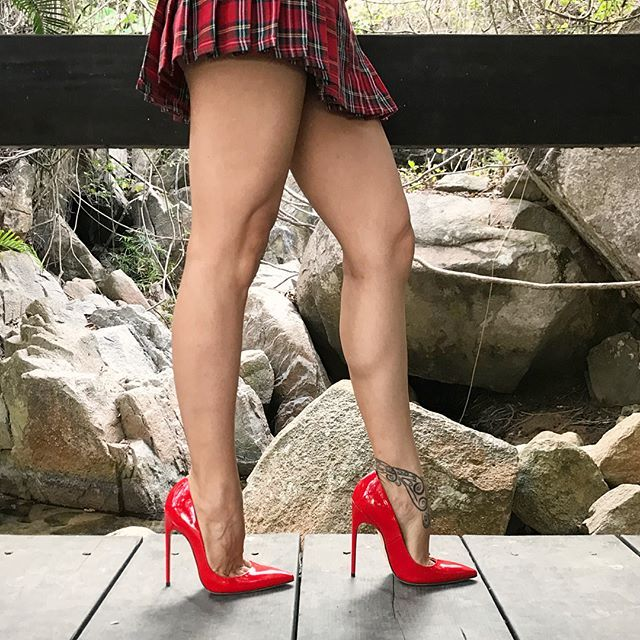 Describe these sexy FMPumps by @brian_atwood in just one word ☝ #BrianAtwood #LucyHeels #LucyLegs #FMPumps #Red #Patent #Leather #130mm #Stiletto #HighHeels #Pumps #Shoes #Legs #Outdoors #Skirt #Sexy #Sensual #Wife #Me