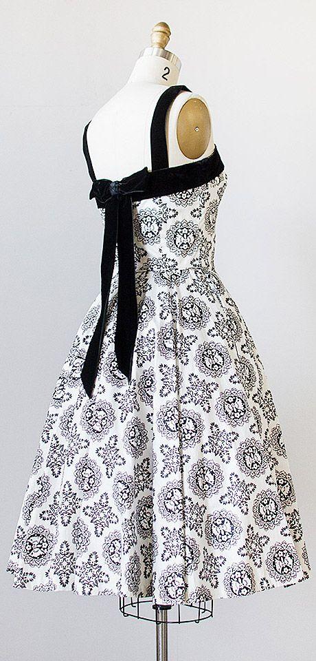 vintage 1950s dress | 50s vintage dress #vintage #1950s #50s