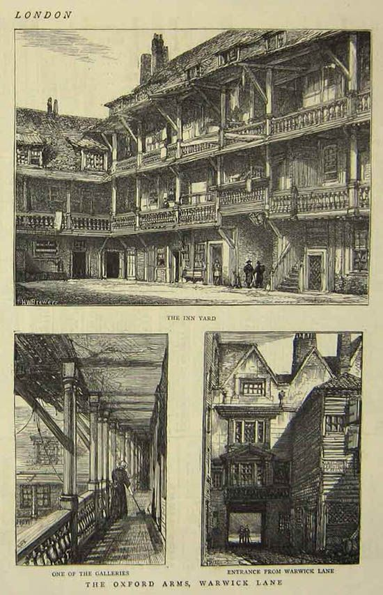 Images of one of London's old galleried coaching inns, 'The Oxford Arms' in London. Sadly, demolished in 1878. For more information on the novel WILDISH please visit: http://www.robertstephenparry.com