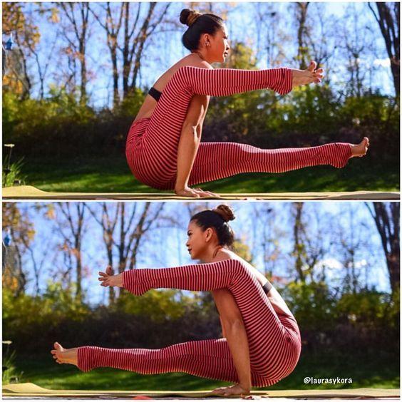 ЭКА ХАСТА БХУДЖАСАНА   ПОЗА ХОБОТА СЛОНА      Асана укрепляет руки полностью и тонизирует органы брюшной полости. Также втягивается живот и развивается брюшной пресс.      ПОРЯДОК ВЫПОЛНЕНИЯ УПРАЖНЕНИЯ:   - Примите Дандасану - Позу Посоха.   - Согните левую ногу в колене настолько, чтобы можно было просунуть плечо под колено.   - Просуньте левую руку и левое плечо под колено, обопритесь левой рукой в пол под левым коленом и поднимите левую ногу.   - Поправьте правой рукой левую ногу, еще…