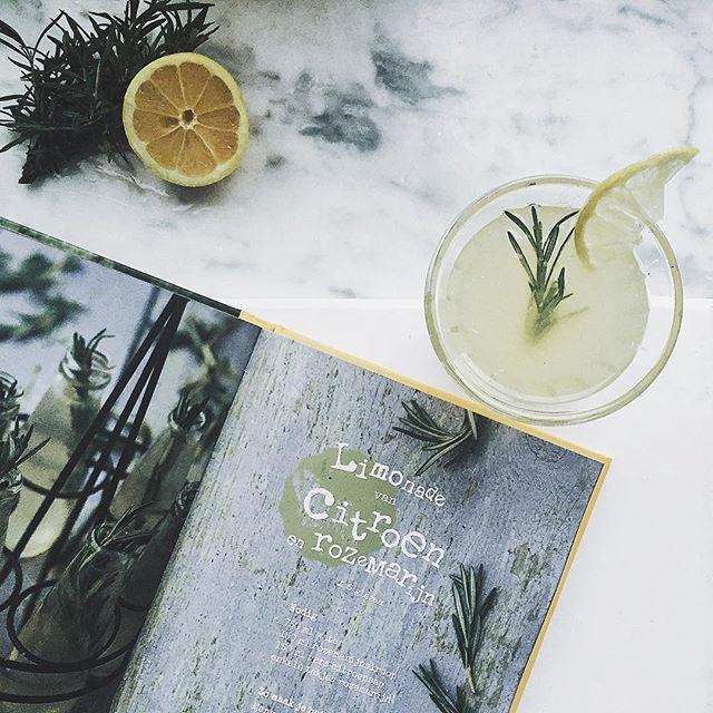 When life gives you lemons, make lemonade! ! #Limonade by @princessmisia als inspiratie.  En die rozemarijn - citroen is to die for ♡ #healthyshmelthy oh en all about mijn #noalcohol (14dagen) en #nocoffee (75 dagen) periode op Flair.be/joy! #linkinprofile✌️
