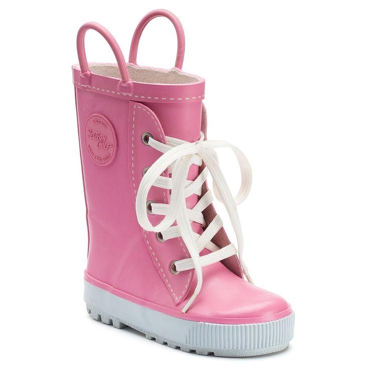 Western Chief Sneaker Boot Toddler Girls' Waterproof Rain Boots, Size: 5 T, Light Pink