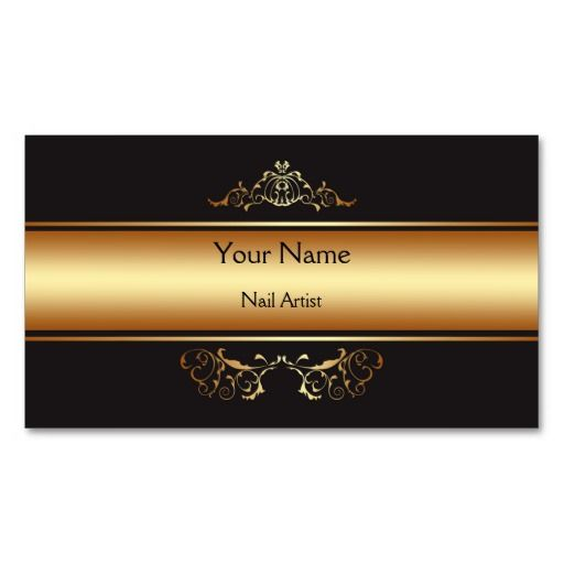 Elegant black and gold Business Card