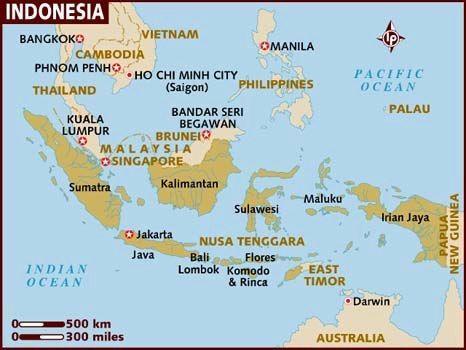 Peta Indonesia | Sebutkan 5 Pulau Terbesar di Indonesia