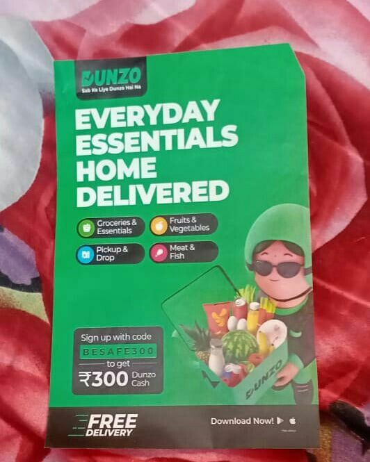 Dunzo Home Delivery Service In 2021 Everyday Essentials Products Grocery Delivery Service