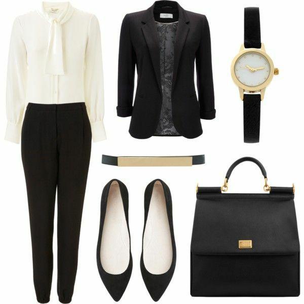business mode damen elegant schwarz wei business. Black Bedroom Furniture Sets. Home Design Ideas