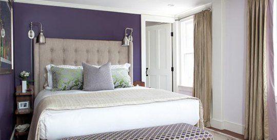 Paint Color Portfolio: Deep Purple Bedrooms